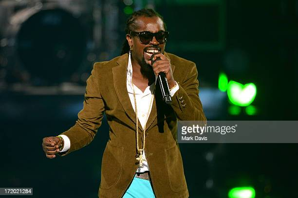 Recording artist Beenie Man performs onstage during the 2013 BET Awards at Nokia Theatre LA Live on June 30 2013 in Los Angeles California