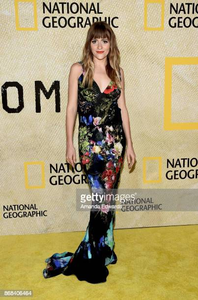 Recording artist BellSaint arrives at the premiere of National Geographic's 'The Long Road Home' at Royce Hall on October 30 2017 in Los Angeles...