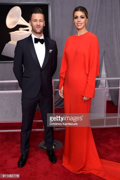 Recording artist Ben Fielding and Brooke Fraser attends the 60th Annual GRAMMY Awards at Madison Square Garden on January 28 2018 in New York City