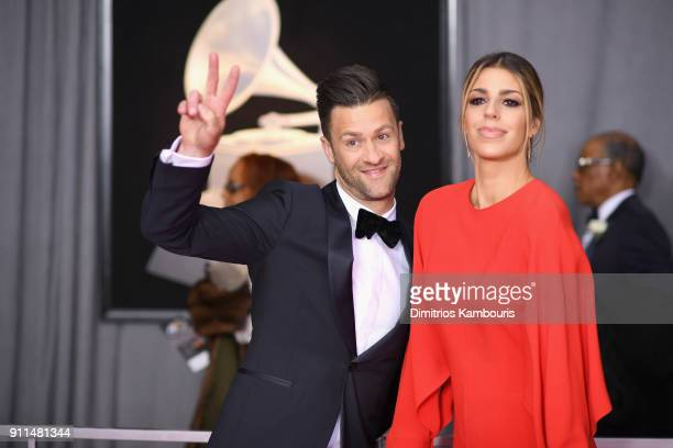 Recording artist Ben Fielding and Brooke Ligertwood of musical group Hillsong Worship attends the 60th Annual GRAMMY Awards at Madison Square Garden...