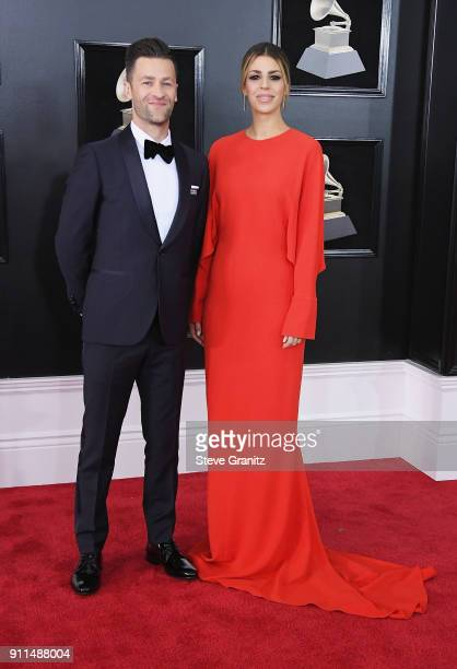 Recording artist Ben Fielding and Brooke Ligertwood of musical group Hillsong Worship attend the 60th Annual GRAMMY Awards at Madison Square Garden...