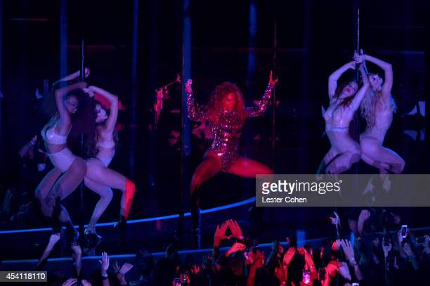 Recording artist Beyoncé performs onstage during the 2014 MTV Video Music Awards at The Forum on August 24 2014 in Inglewood California