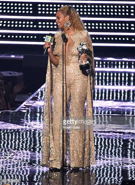 Recording artist Beyonce accepts the award for Best Female Video onstage during the 2016 MTV Video Music Awards at Madison Square Garden on August 28...