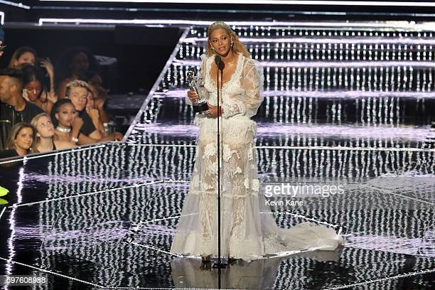 Recording artist Beyonce accepts the award for Video of the Year onstage during the 2016 MTV Video Music Awards at Madison Square Garden on August 28...