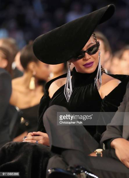 Recording artist Beyonce attends the 60th Annual GRAMMY Awards at Madison Square Garden on January 28 2018 in New York City