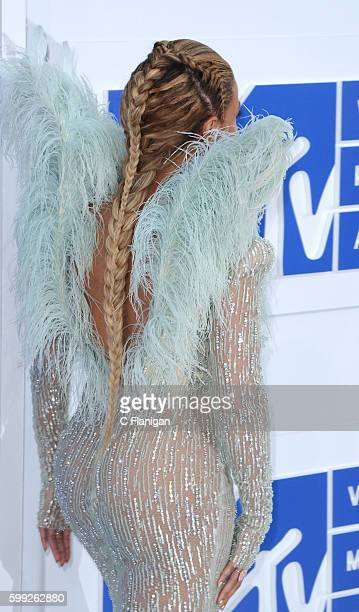 Recording artist Beyonce hair detail attends the 2016 MTV Video Music Awards at Madison Square Garden on August 28 2016 in New York City