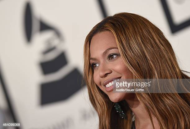 Recording artist Beyonce Knowles arrives at the 57th Annual GRAMMY Awards at Staples Center on February 8 2015 in Los Angeles California