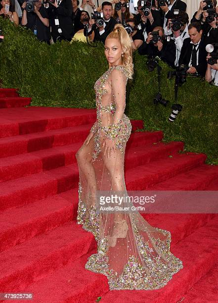 Recording artist Beyonce Knowles attends the 'China: Through The Looking Glass' Costume Institute Benefit Gala at the Metropolitan Museum of Art on...
