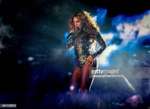 Recording artist Beyonce performs onstage during the 2014 MTV Video Music Awards at The Forum on August 24 2014 in Inglewood California