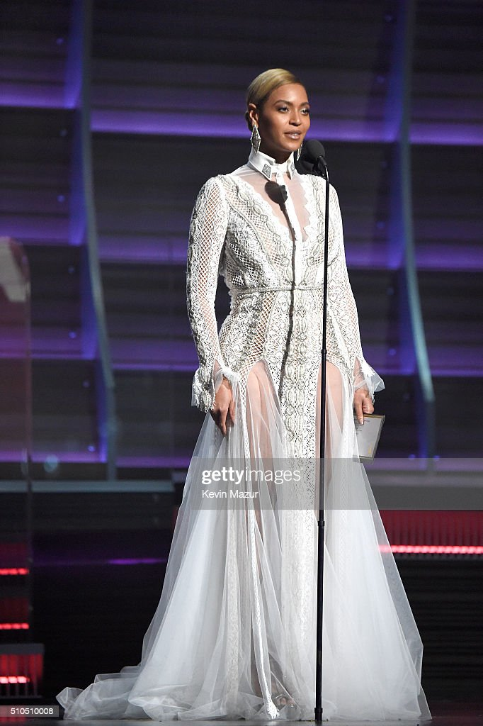 Recording artist Beyonce presents the award for Record of the Year onstage during The 58th GRAMMY Awards at Staples Center on February 15, 2016 in Los Angeles, California.