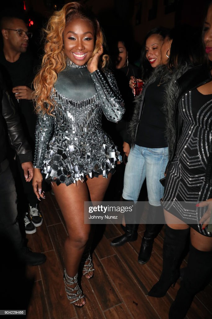 Recording artist Bianca Bonnie attends her '10 Plus' Album Release Party at Le Souk on January 11, 2018 in New York City.