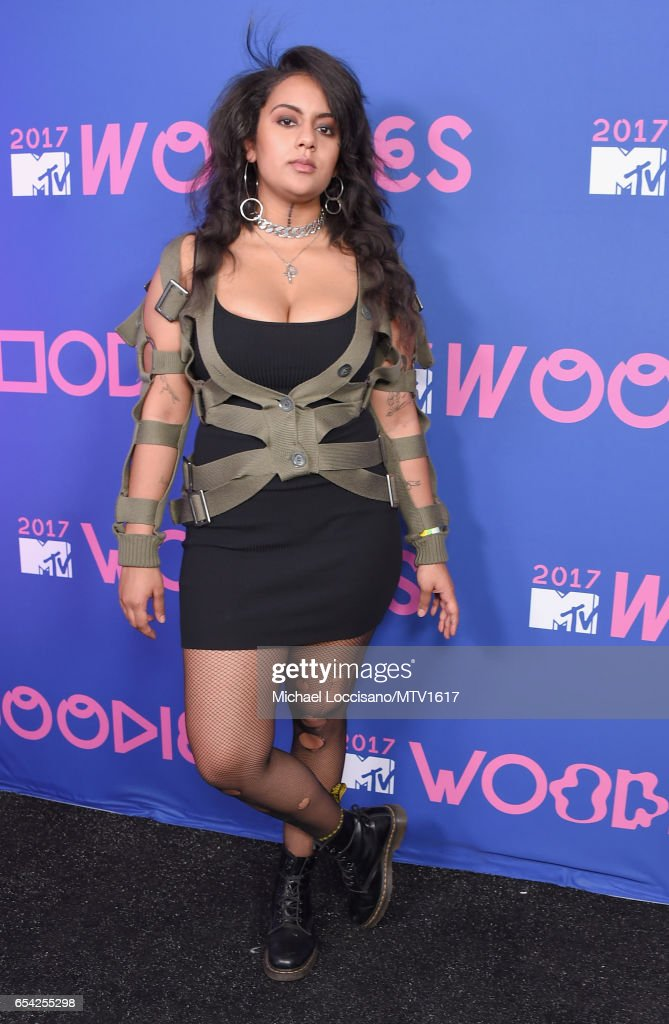 Recording Artist Bibi Bourelly Poses At MTV Woodies LIVE