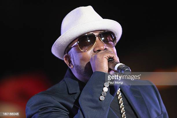 Recording artist Big Boi performs as Janelle Monae and Target celebrate the release of her new album 'The Electric Lady' at Pier 84 on September 9...