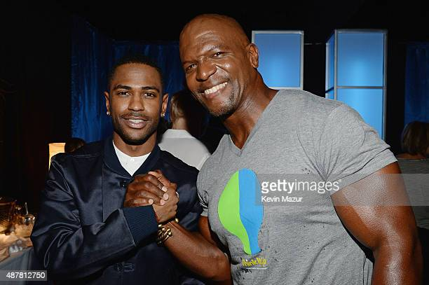 Recording artist Big Sean and actor Terry Crews attend the Think It Up education initiative telecast for teachers and students hosted by...