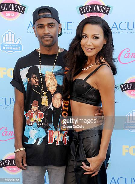 Recording artist Big Sean and actress Naya Rivera arrive at the 2013 Teen Choice Awards at Gibson Amphitheatre on August 11, 2013 in Universal City,...