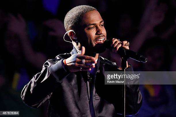 Recording artist Big Sean performs onstage during the Think It Up education initiative telecast for teachers and students hosted by Entertainment...