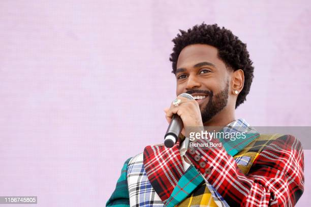 Recording artist Big Sean speaks on stage during the Havas session at the Cannes Lions 2019 : Day Two on June 18, 2019 in Cannes, France.