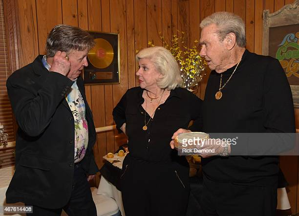 Recording Artist Bill Anderson Country Music Hall of Fame Inductees Bonnie Brown and Jim Ed Brown attend Country Music Hall of Fame inducees Jim Ed...