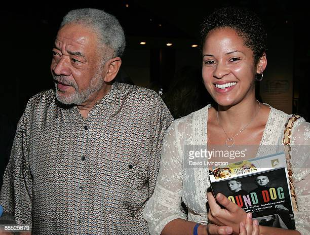 Recording artist Bill Withers and daughter singer/songwriter Kori Withers attend a Jerry Leiber and Mike Stoller QA for their book Hound Dog at The...