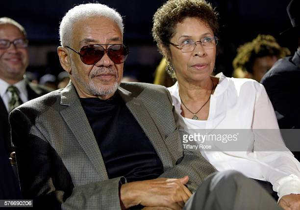Recording artist Bill Withers and Marcia Johnson attend HollyRod Foundation's DesignCare Gala on July 16 2016 in Pacific Palisades California