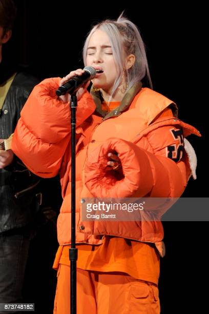 Recording artist Billie Eilish performs onstage during Glamour Celebrates 2017 Women Of The Year Live Summit at Brooklyn Museum on November 13 2017...