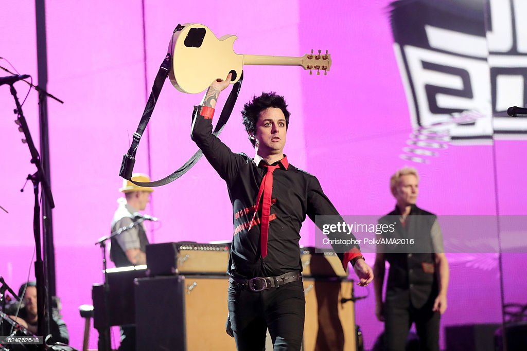 Recording artist Billie Joe Armstrong of Green Day performs onstage the 2016 American Music Awards at Microsoft Theater on November 20, 2016 in Los Angeles, California.