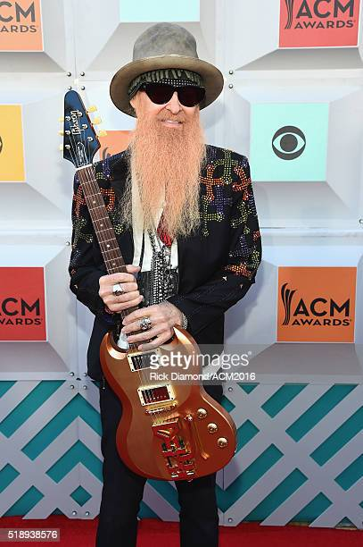 Recording artist Billy Gibbons of ZZ Top attends the 51st Academy of Country Music Awards at MGM Grand Garden Arena on April 3 2016 in Las Vegas...