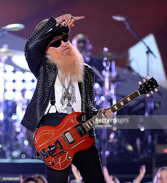 Recording artist Billy Gibbons of ZZ Top performs onstage during the American Country Awards 2013 at the Mandalay Bay Events Center on December 10,...