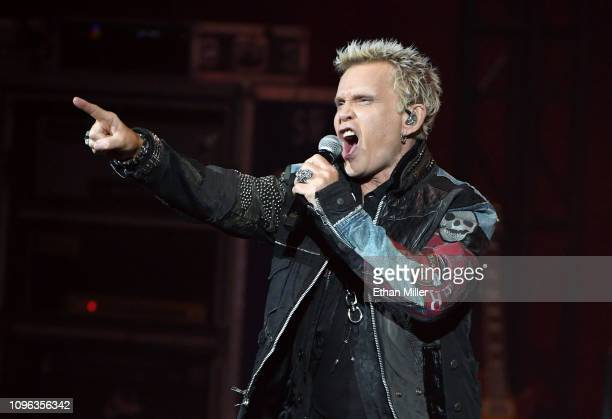 """Recording artist Billy Idol performs as he kicks off his 10-show residency """"Billy Idol: Las Vegas 2019"""" at The Pearl concert theater at Palms Casino..."""