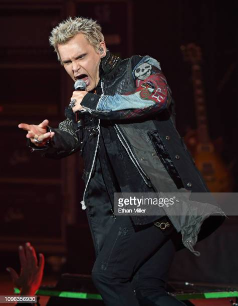 Recording artist Billy Idol performs as he kicks off his 10show residency 'Billy Idol Las Vegas 2019' at The Pearl concert theater at Palms Casino...