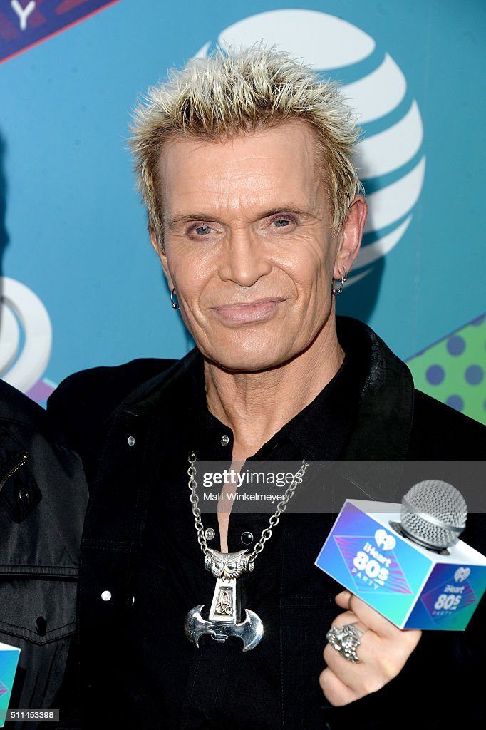 Recording artist Billy Idol poses backstage during the first ever iHeart80s Party at The Forum on February 20, 2016 in Inglewood, California.