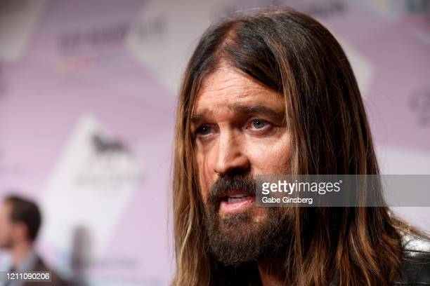 Recording artist Billy Ray Cyrus is interviewed during the 24th annual Keep Memory Alive Power of Love Gala benefit for the Cleveland Clinic Lou Ruvo...