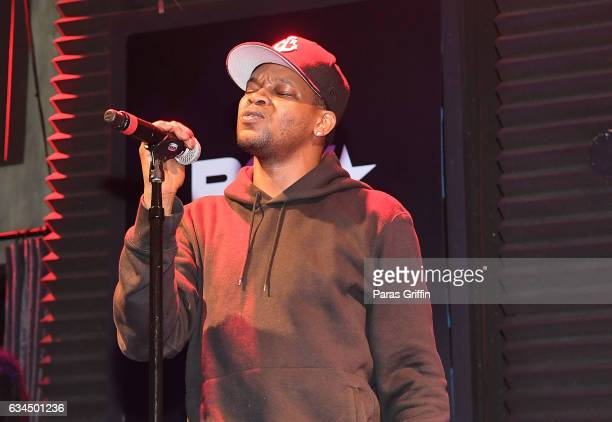 Recording artist BJ The Chicago Kid performs onstage at the 2017 BET Music Grammy Showcase at The Sayers Club on February 9 2017 in Hollywood...