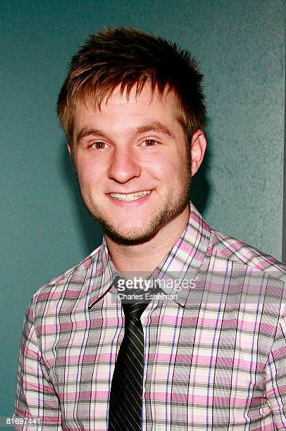 Recording artist Blake Lewis poses for a photo before performing at the Canal Room on June 24 2008 in New York City