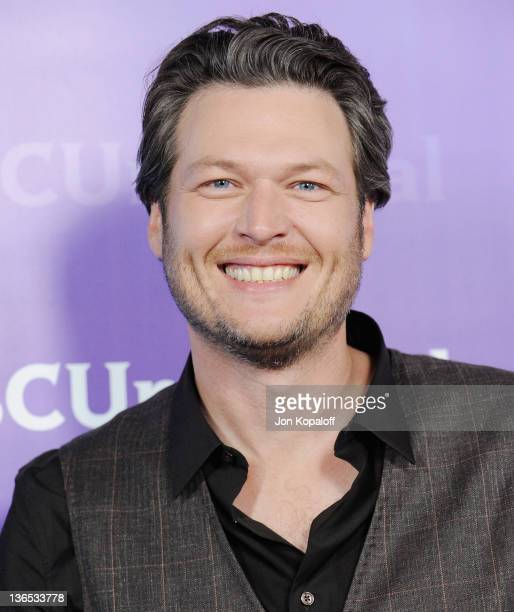 Recording artist Blake Shelton arrives at the NBC Universal AllStar Party at The Athenaeum on January 6 2012 in Pasadena California