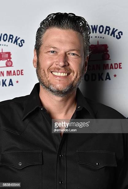 Recording artist Blake Shelton stopped by Whiskey Tango to enjoy some delicious Smithworks cocktails on July 27 2016 in Grain Valley Missouri