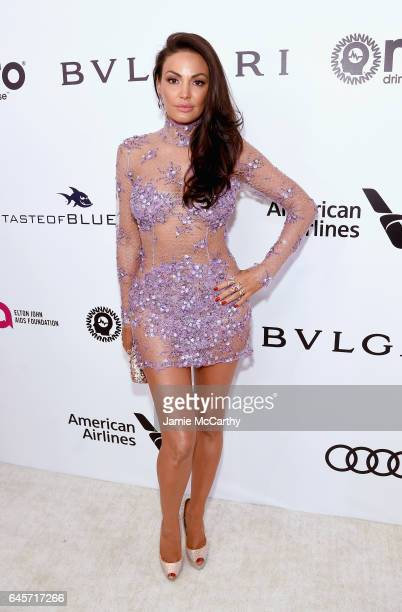 Recording Artist Bleona attends the 25th Annual Elton John AIDS Foundation's Academy Awards Viewing Party at The City of West Hollywood Park on...