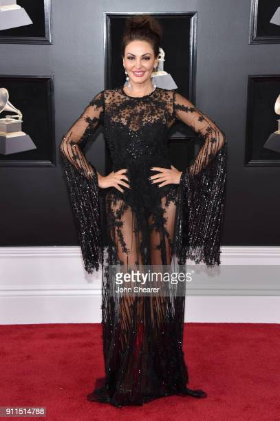 Recording artist Bleona attends the 60th Annual GRAMMY Awards at Madison Square Garden on January 28 2018 in New York City