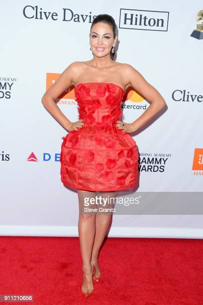 Recording artist Bleona Qereti attends the Clive Davis and Recording Academy PreGRAMMY Gala and GRAMMY Salute to Industry Icons Honoring JayZ on...