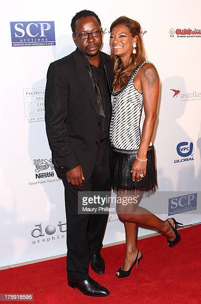 Recording artist Bobby Brown and wife Alicia Etheredge arrive at The Harold Carole Pump Foundation's 13th Annual Gala at The Beverly Hilton Hotel on...