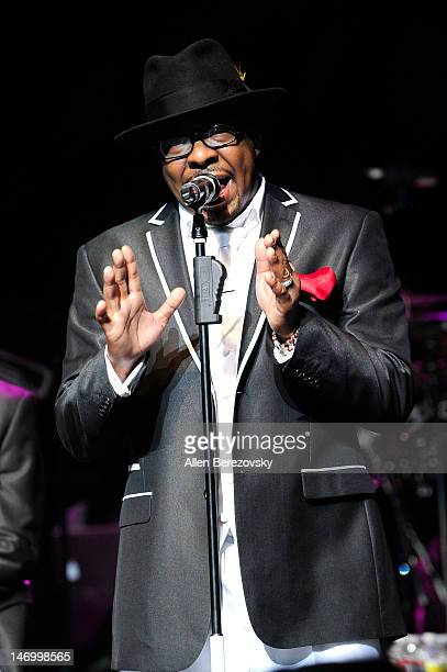 Recording artist Bobby Brown of New Edition performs at Nokia Theatre LA Live on June 24 2012 in Los Angeles CaliforniaÊ