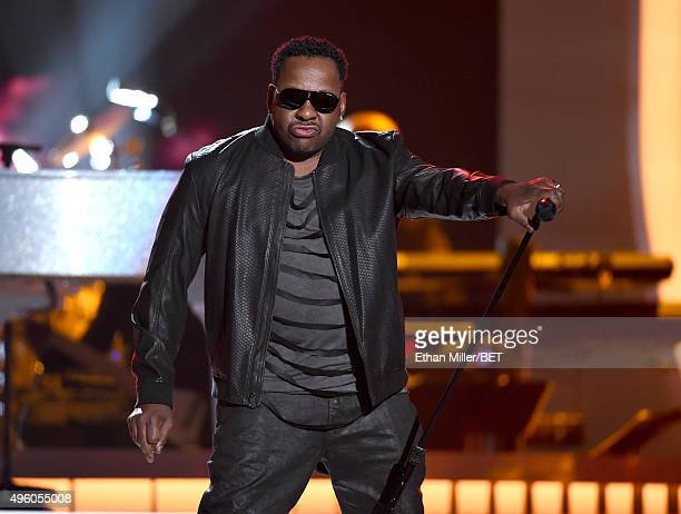 Recording artist Bobby Brown performs onstage during the 2015 Soul Train Music Awards at the Orleans Arena on November 6 2015 in Las Vegas Nevada