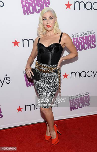Recording artist Bonnie McKee attends Glamorama Fashion Rocks presented by Macy's Passport at Create Nightclub on September 9 2014 in Los Angeles...