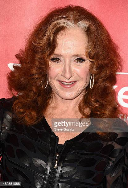 Recording artist Bonnie Raitt attends the 25th anniversary MusiCares 2015 Person Of The Year Gala honoring Bob Dylan at the Los Angeles Convention...
