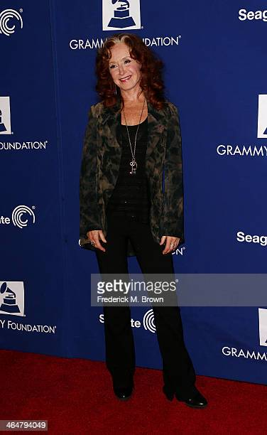 Recording artist Bonnie Raitt attends the 56th GRAMMY Awards Foundation Legacy Concert at The Wilshire Ebell Theatre on January 23 2014 in Los...