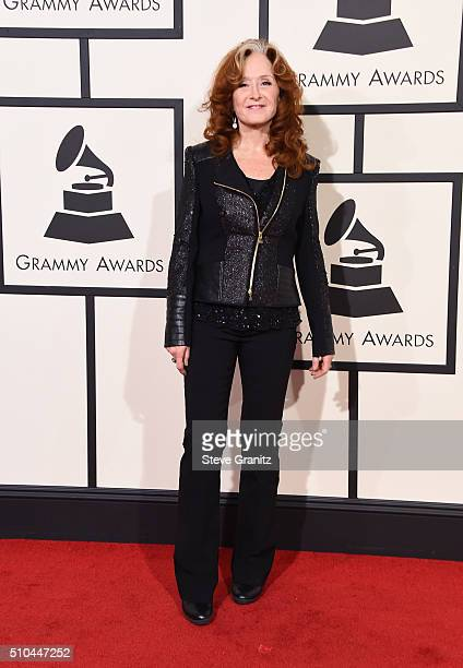 Recording artist Bonnie Raitt attends The 58th GRAMMY Awards at Staples Center on February 15 2016 in Los Angeles California