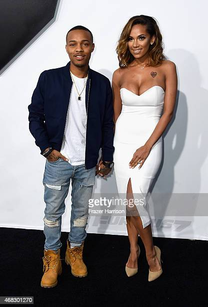 Recording artist Bow Wow and Erica Mena attend Universal Pictures' Furious 7 premiere at TCL Chinese Theatre on April 1 2015 in Hollywood California