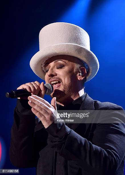 Recording artist Boy George of music group Culture Club performs onstage during the first ever iHeart80s Party at The Forum on February 20 2016 in...