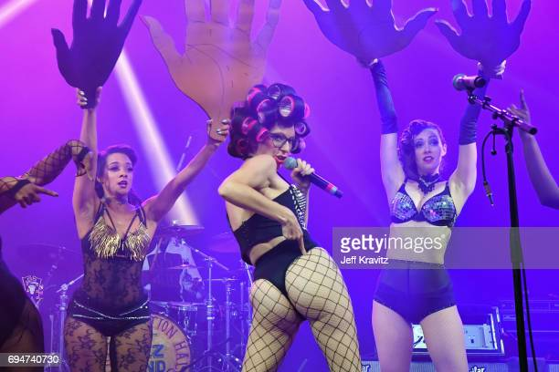 Recording artist Boyfriend performs onstage for the 'Soul Shakedown' at What Stage during Day 3 of the 2017 Bonnaroo Arts And Music Festival on June...