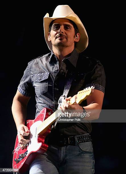 Recording artist Brad Paisley performs onstage during the 2015 iHeartRadio Country Festival at The Frank Erwin Center on May 2 2015 in Austin Texas...